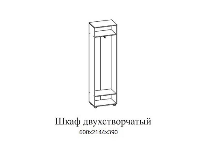 Шкаф_двухстворчатый_600х2144х390