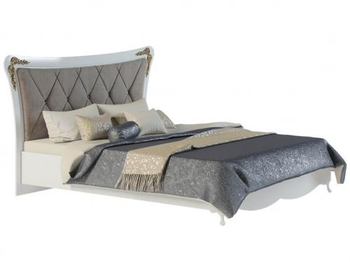 Кровать с мягкой спинкой Аделина