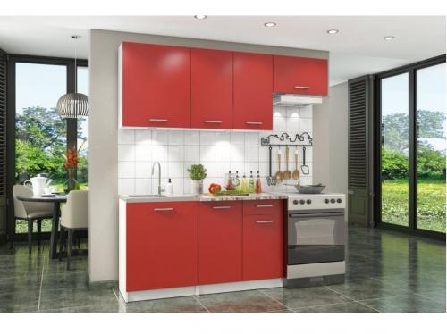 Кухонный гарнитур Бланка красный