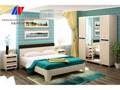 Спальня Мелисса Дуб Беленый комбинированный