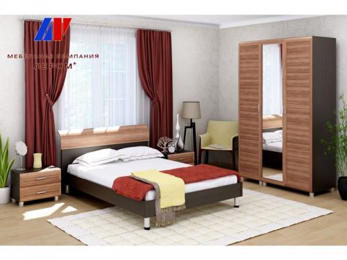 Спальня Мелисса Дуб Венге-Слива валлис
