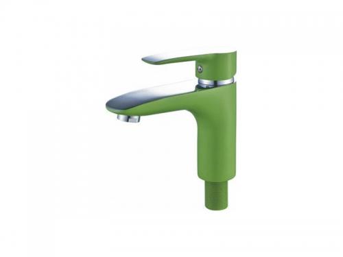 Смеситель для раковины CN10095-12 зеленый