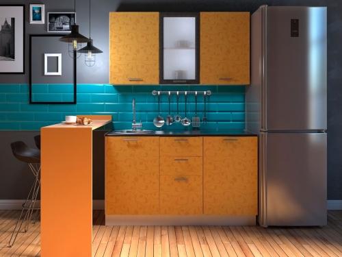 Модульная кухня Комфорт манго цветы