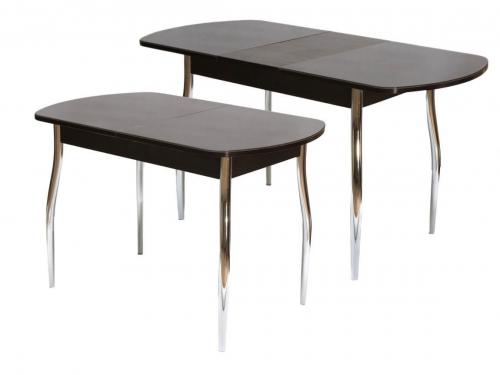 Стол обеденный раздвижной со стеклом Гала 1