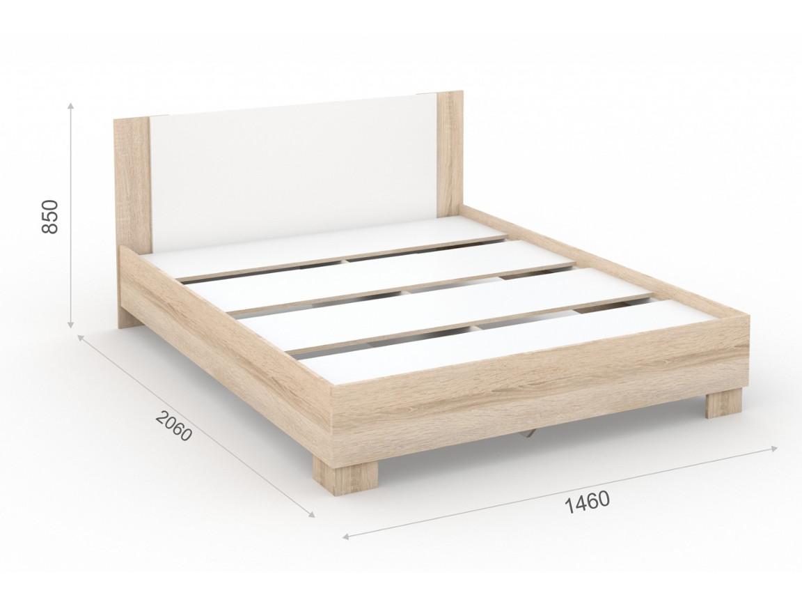 Кровать_140х200_основание_ЛДСП_1460х2060х850_мм