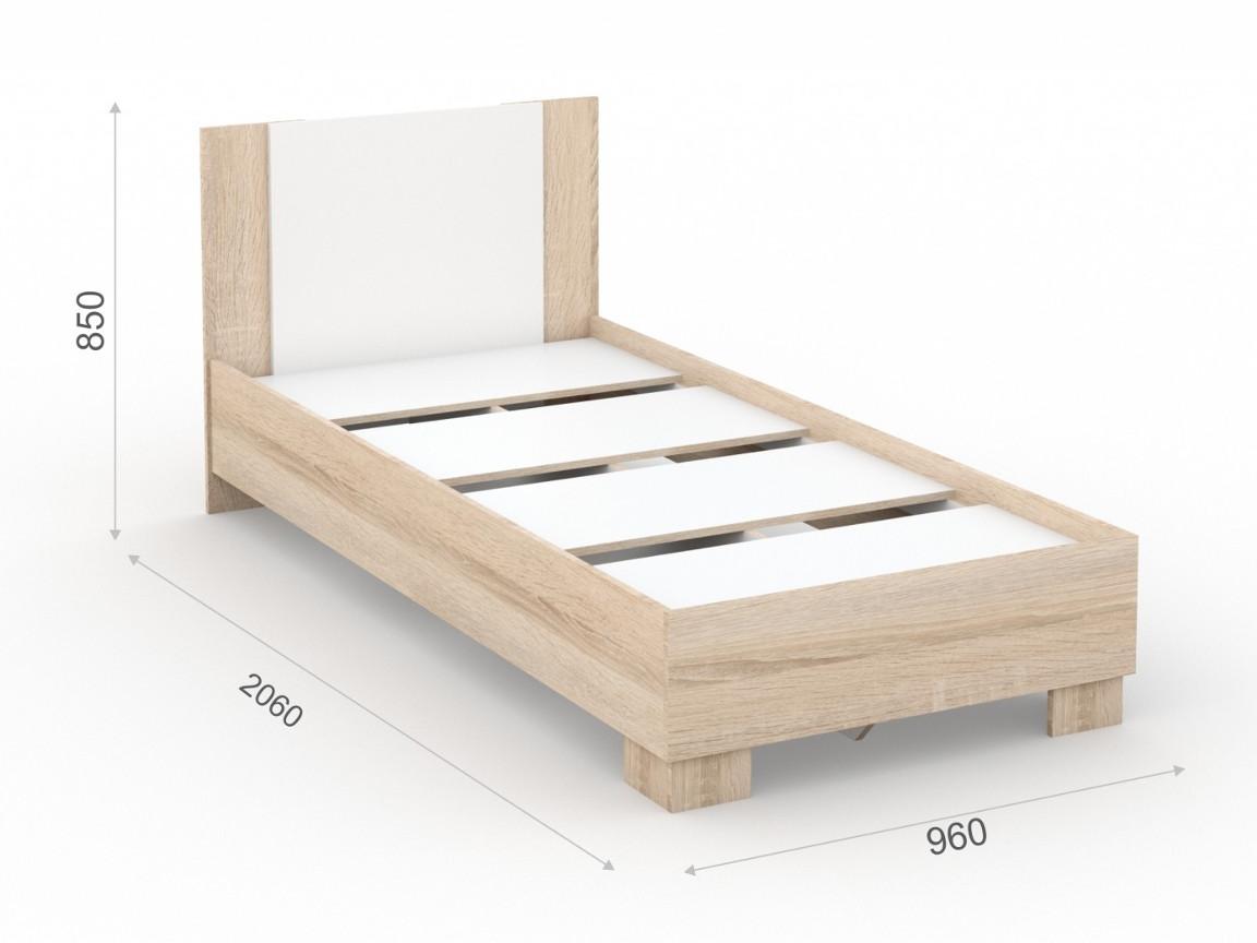 Кровать_90х200_основание_ЛДСП_960х2060х850_мм